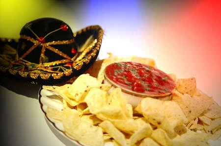 nacho fiesta Stock Photo