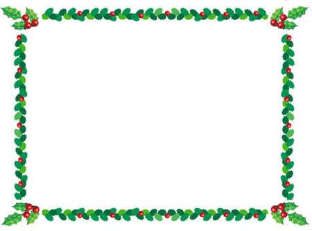christmas backgrounds: holly christmas border