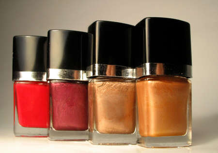 reds: different shades of nailpolish