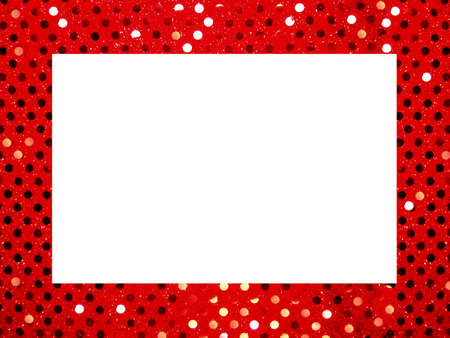 red glittery: Squined sfondo frame  Archivio Fotografico