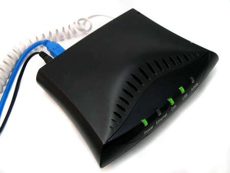 dsl: high speed modem Stock Photo