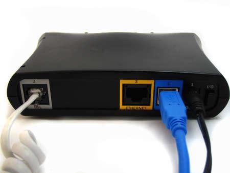 jacks: back of high speed modem