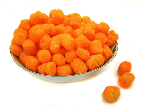 puff: bowl full of cheese puffs