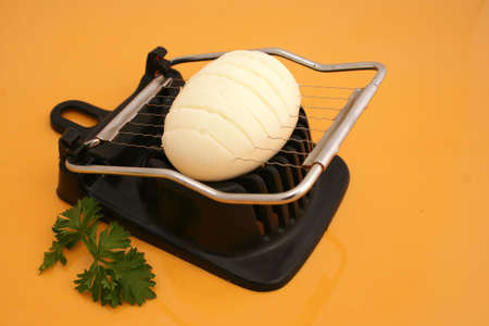 cutter:  boiled egg on cutter