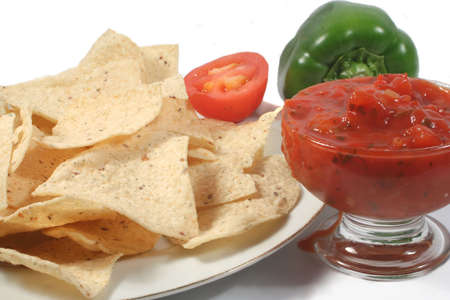 nacho chips and ingredients