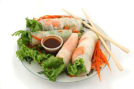 fresh  Thai vegetable rolls
