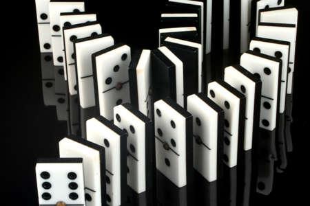 rows of dominoes