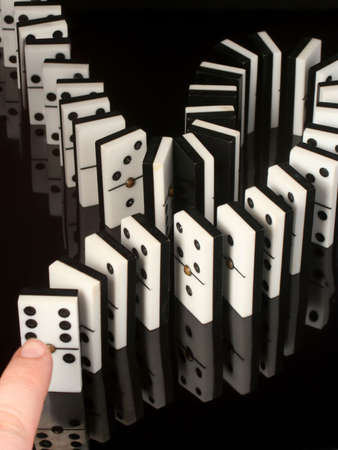 rows of dominoes