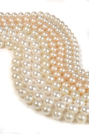 pearl necklace: strings of pearls (vertical) Stock Photo