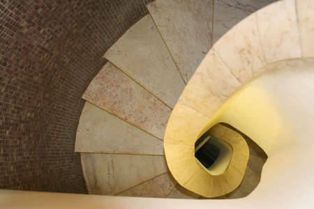 ascent: winding staircase