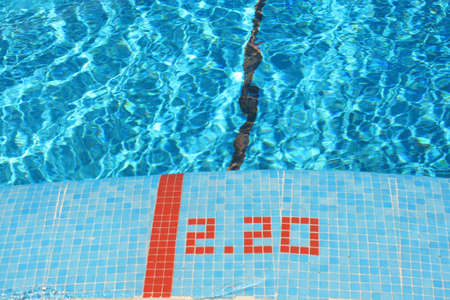 piscina olimpica: profundidad de la piscina
