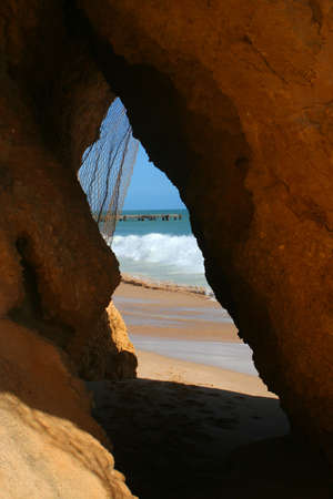 hideout: cave in the Algarve, Portugal