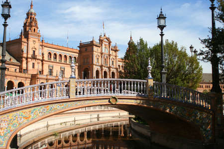 espana: Plaza de Espana in Seville, Spain