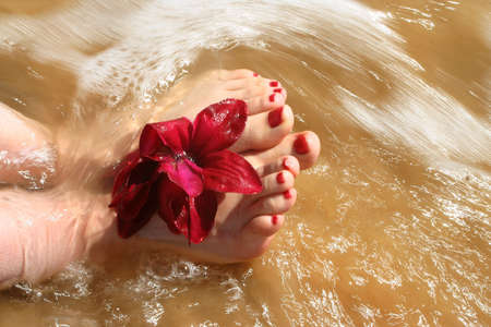 water wave: ocean water from waves over feet