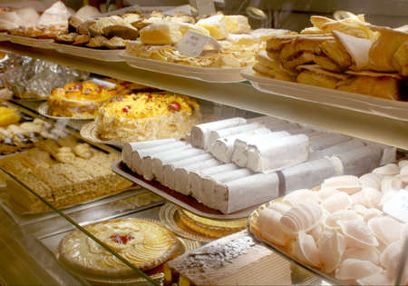 different baked goods at a Portuguese bakery