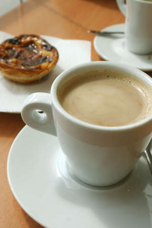 fattening: taking a coffee break with pastry