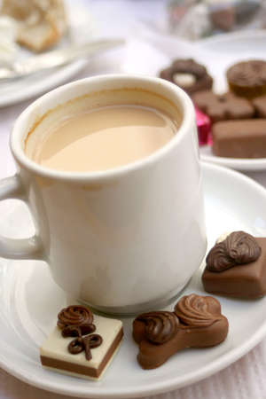 delicious truffles and coffee