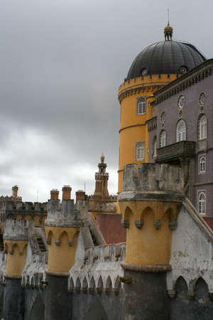 towers of Castello da Pena, Sintra, Portugal photo