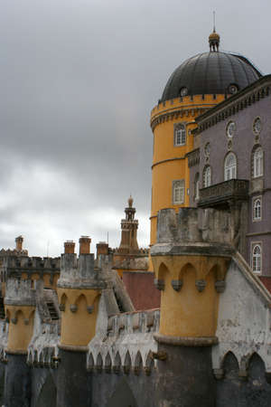 olden: towers of Castello da Pena, Sintra, Portugal