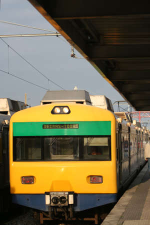 train arrives at train station