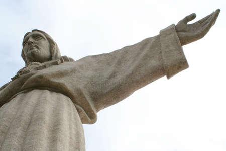 cristo: Cristo Rei (Chist King) structure in Almada, Portugal