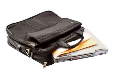 tote: business computer (laptop) case Stock Photo