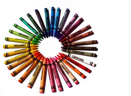 colorful rainbow crayons