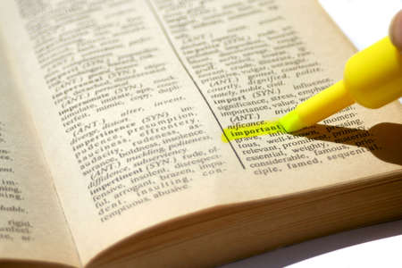 relevance: highlighting the word important