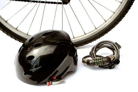 helmet and bike lock