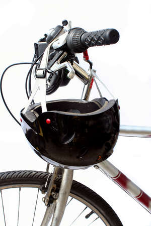 helmet and bike Stock Photo