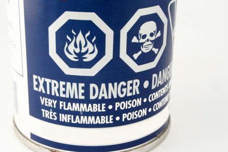 caution symbols on a can Stock fotó
