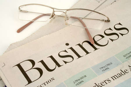 business section of newspaper photo