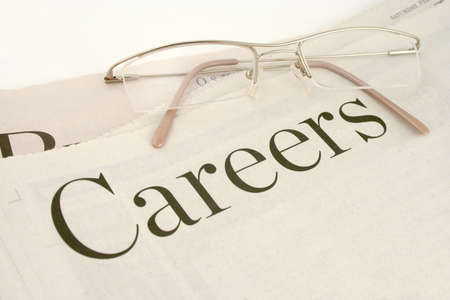 informational: careers section of newspaper (blank space for extra print) Stock Photo