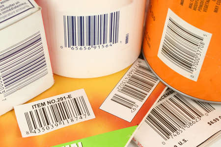 upc symbols on a variety of products Stock Photo - 417648