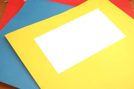 file folder with blank space for writing