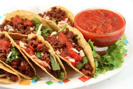 Deliciosos tacos mexicanos  Foto de archivo - 430676