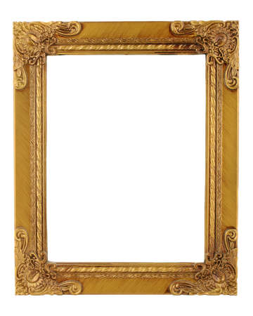 golden ornate frame and border Stock Photo - 438294