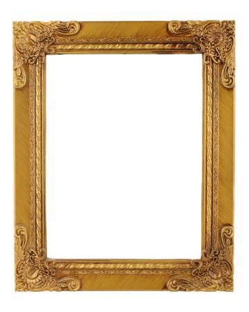 gold metal: golden ornate frame and border