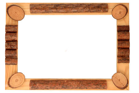whitespace: wooden frame and border Stock Photo