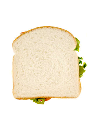 white bread isolated sandwich