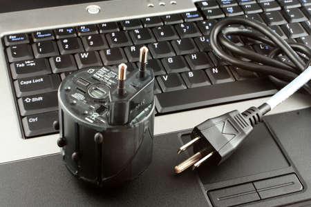 Adaptador de enchufes el�ctricos internacionales  Foto de archivo - 445461