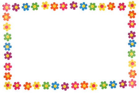 colorful flower border and frame