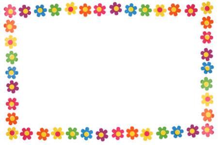 kleurrijke bloem grens en frame