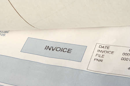 invoices for received package Stock Photo