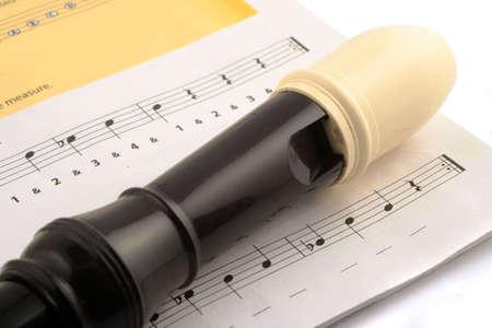 blaasinstrument: blaasinstrument, de recorder Stockfoto
