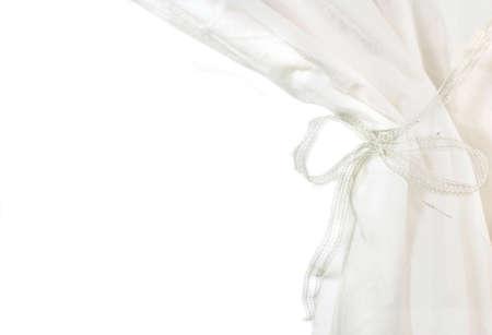 cortinas blancas: cortinas de color blanco se�ala sobre fondo blanco