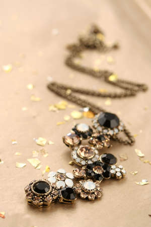 necklace with glittering gems