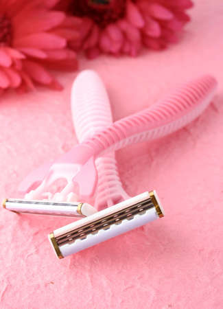 pink feminine razors for shaving Stock fotó