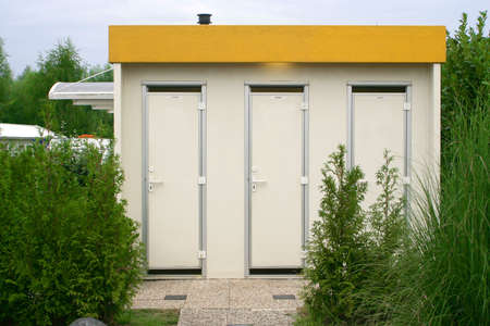 communal bathrooms in a campground Stock fotó