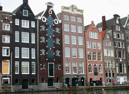 houses along an Amsterdam canal Stock Photo - 513124